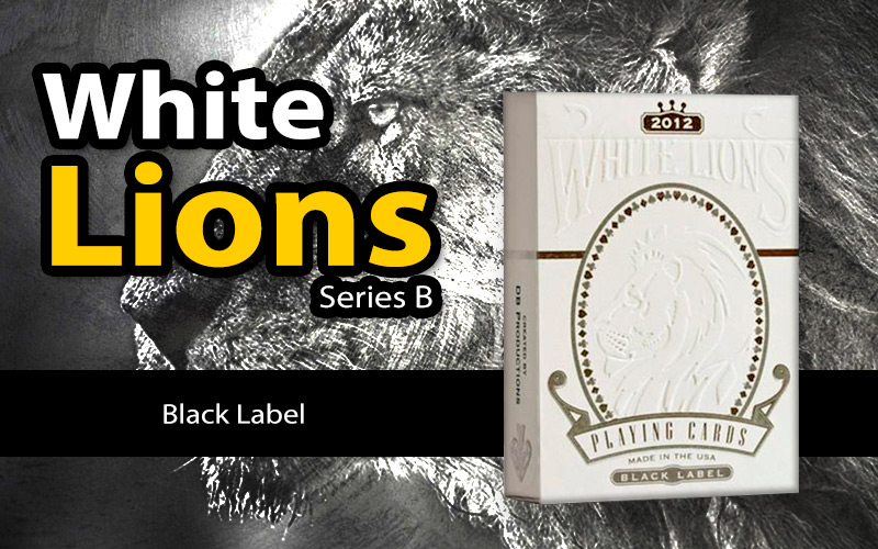 White Lions Series B - Black Label - www.MagicMans.net