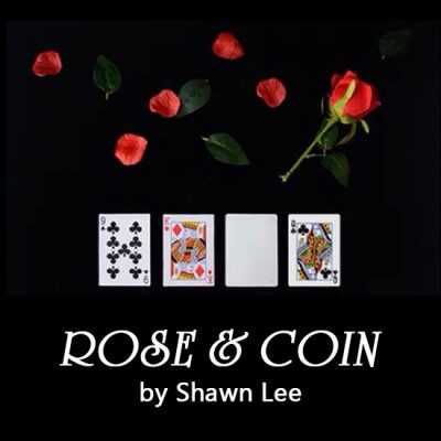 rose and coin